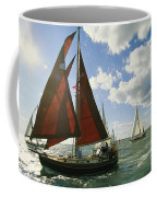 Red-sailed Sailboat And Others Coffee Mug