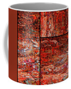 Red Splashes Swishes And Swirls - Abstract Art Coffee Mug