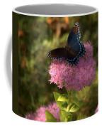 Red Spotted Purple Butterfly On Sedum Coffee Mug