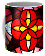 Red Stained Glass Coffee Mug