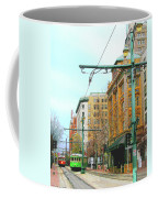 Red Trolley Green Trolley Coffee Mug