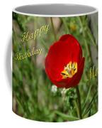 Red Tulip Birthday Coffee Mug
