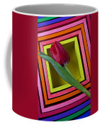 Red Tulip In Box Coffee Mug