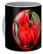 Red Tulips Under Glass Coffee Mug