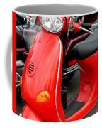 Red Vespa Vintage Scooter Motorcycle Coffee Mug