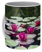 Red Water Lillies Coffee Mug