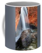 Red Waterfall Coffee Mug by Carlos Caetano