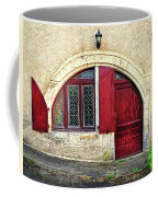 Red Windows And Door Provence France Coffee Mug