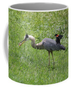 Red-winged Blackbird Attacking Great Blue Heron Coffee Mug
