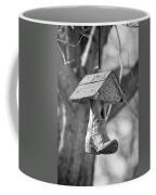 Redneck Cowboy Boot Birdhouse Bw Coffee Mug