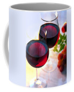 Reds At Afternoon Coffee Mug by Elaine Plesser