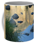 Reflecting Peaks In The Merced River Coffee Mug