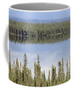 Reflection In Willow Lake Near Copper Coffee Mug by Rich Reid