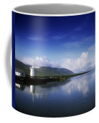 Reflection Of A Traditional Windmill In Coffee Mug