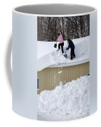 Removing Snow From A Building Coffee Mug
