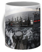 Replenishment At Sea Between Usns Coffee Mug
