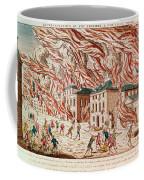 Representation Of The Terrible Fire Of New York Coffee Mug