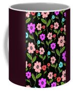 Retro Florals Coffee Mug