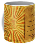 Retro Grunge Ray Postcard Coffee Mug