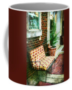 Retro Grunge Sidewalk Bench Seat Coffee Mug