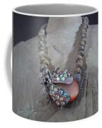 Rhinestone Lady Bug Coffee Mug