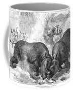 Rhinoceros Fight, 1875 Coffee Mug