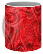 Ribbons Of Red Abstract Coffee Mug