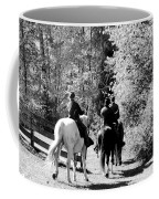 Riding Soldiers B And W Coffee Mug