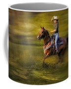 Riding Thru The Meadow Coffee Mug by Susan Candelario