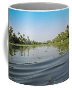 Ripples On The Water Of The Saltwater Lagoon In Alleppey In Kerala In India Coffee Mug