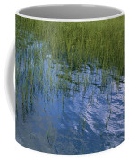 Rippling Water Among Aquatic Grasses Coffee Mug
