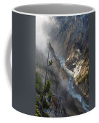 Rising Mists From Grand Canyon Of The Yellowstone Coffee Mug