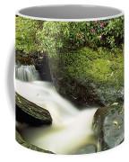 River Flowing Through A Forest, Torc Coffee Mug