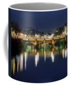 River Liffey At Night, Oconnell Street Coffee Mug