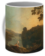 River Scene- Bathers And Cattle Coffee Mug