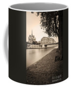 River Seine And Cathedral Notre Dame Coffee Mug