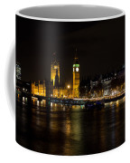 River Thames And Westminster Night View Coffee Mug