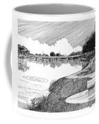Riverwalk On The Pecos Coffee Mug by Jack Pumphrey