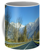 Road And Snow-capped Mountain Coffee Mug