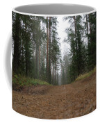 Road In A Pine Grove Coffee Mug
