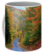 Road Through Autumn Woods Coffee Mug by Larry Landolfi and Photo Researchers