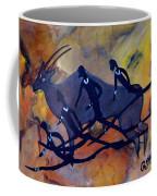 Rock Art No 6  Hunter's And Eland Coffee Mug