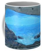 Rock Painting-ocean Sailboats Coffee Mug