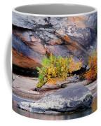 Rock Shrub And Bluff At Cumberland Falls State Park Coffee Mug
