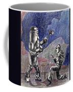 Rocket Man And Robot Coffee Mug