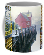 Rockport Harbor And Cages Coffee Mug