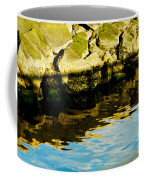 Rocks And Reflections On Ocean Coffee Mug