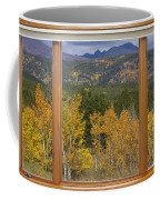 Rocky Mountain Autumn Picture Window Scenic View Coffee Mug