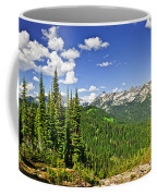 Rocky Mountain View From Mount Revelstoke Coffee Mug