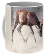 Roe Buck - Winter Coffee Mug by Mark Adlington
